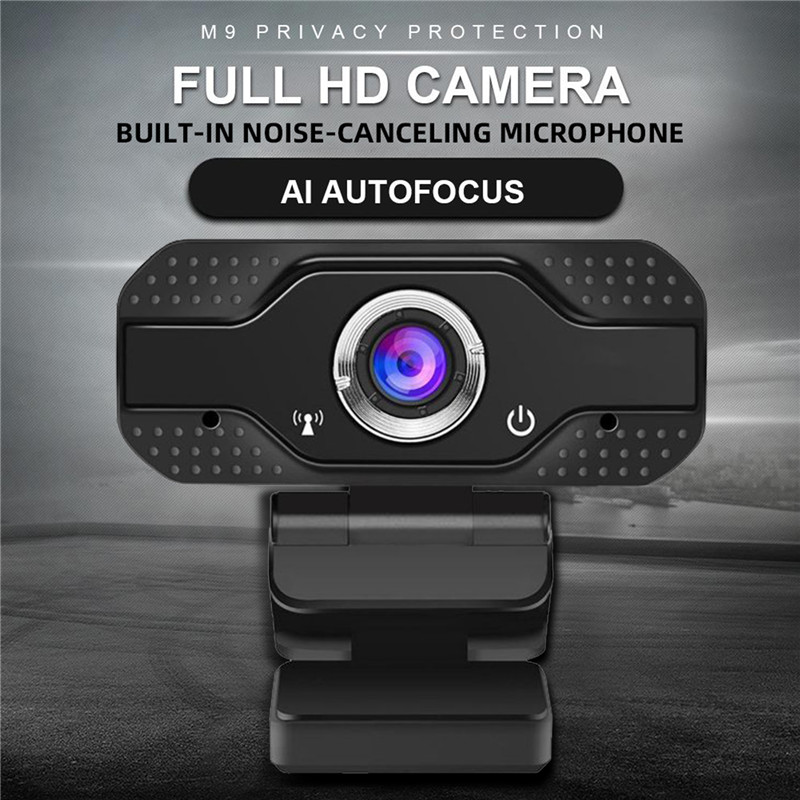 HD 1080P Webcam Computer WebCamera Camera With Plug And Play Video Calling For Live Broadcast Video Conference Work With Mic