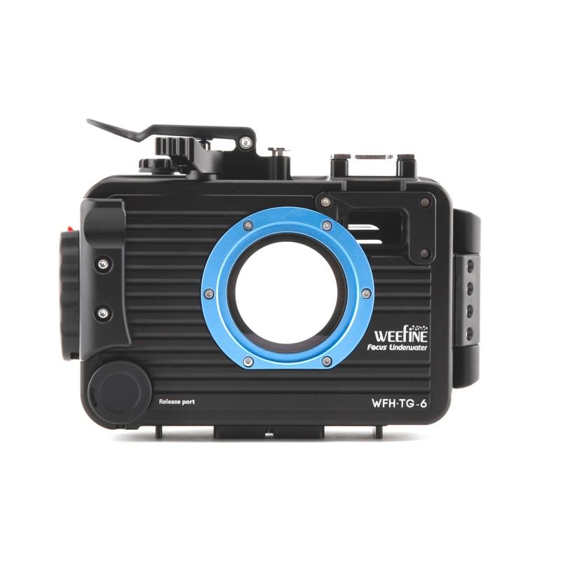 Weefine 100 meter TG5 TG6 Aluminium alloy Underwater Case Diving Waterproof Housing Case for Olympus TG-5 TG-6 Camera 2