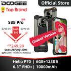 IP68/IP69K DOOGEE S88 Pro resistente teléfono móvil 10000mAh teléfonos Helio P70 Octa Core 6GB RAM 128GB ROM smartphone Android 10 OS
