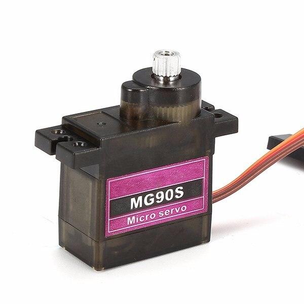 MG90S Радиоуправляемый микро-сервопривод с металлической передачей для модели грузовика, лодки, гоночного автомобиля, вертолета и робота