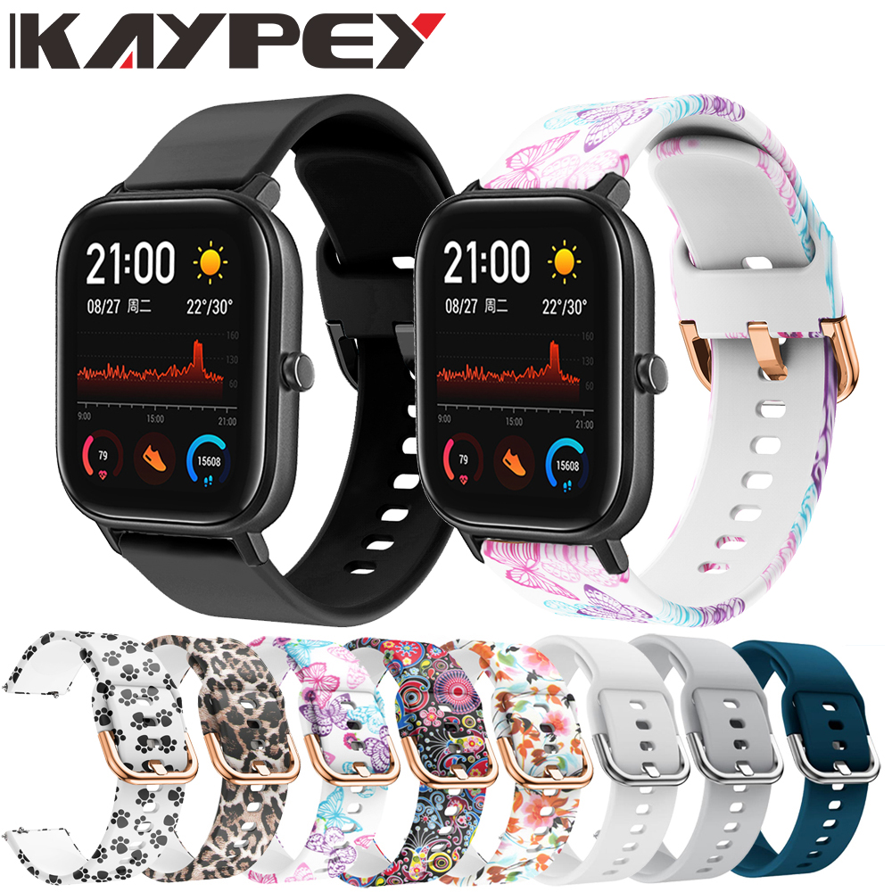 20mm Wrist Strap For Huami Amazfit GTS Silicone Watch Bands For Xiaomi Amazfit GTS Replacement Bracelet Band Smart Accessories