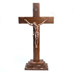 Jesus 350mm Große Größe Holz Kreuz Katholizismus Religiöse Kirche Kruzifix Statue