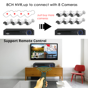 Image 2 - 8CH Poe Nvr Kits IEEE802.3af 48V Cctv Systeem 1080P Indoor Outdoor Camera Waterdichte 2MP Beveiliging Video Surveillance Set hiseeu