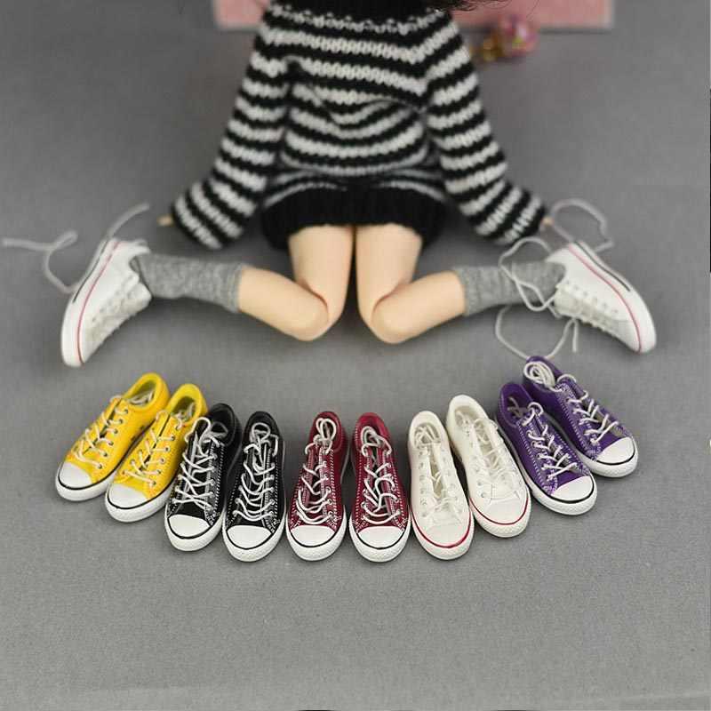 HOUZIWA BJD bebek aksesuarları 4.5cm ayakkabı blythe bebek ayakkabıları 1/6 bjd bebek ayakkabıları