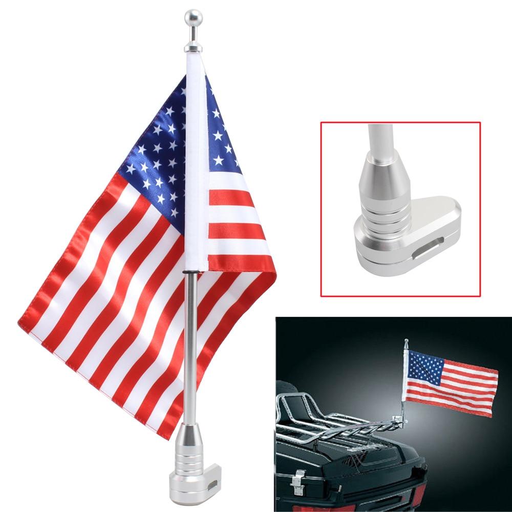Vertical Flagpole American Flag For 2001-2011Honda GoldWing GL1800 Luggage Rack
