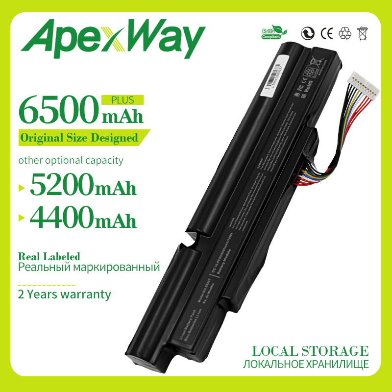 Apexway 6500mAh Laptop Battery for ACER A3INR18/65-2 AS11A3E AS11A5E for Aspire TimelineX 3830T 3830TG 4830T <font><b>4830TG</b></font> 5830T 5830TG image