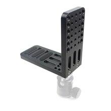 Vertical Shoot Quick Release L Plate Bracket Support Video Camera Tripod 1/4 3/8 Screw Holes for Zhiyun Feiyu DSLR Gimbal Parts