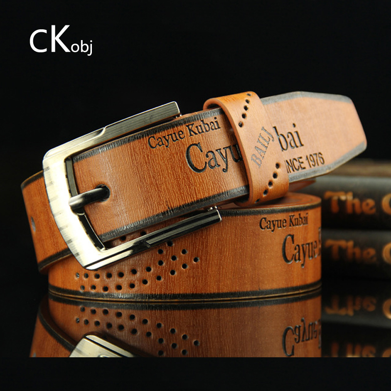 2019 Pin Buckle Belt Men's Belt Casual Fashion Antique Pants With Retro Hollow Network Explosion