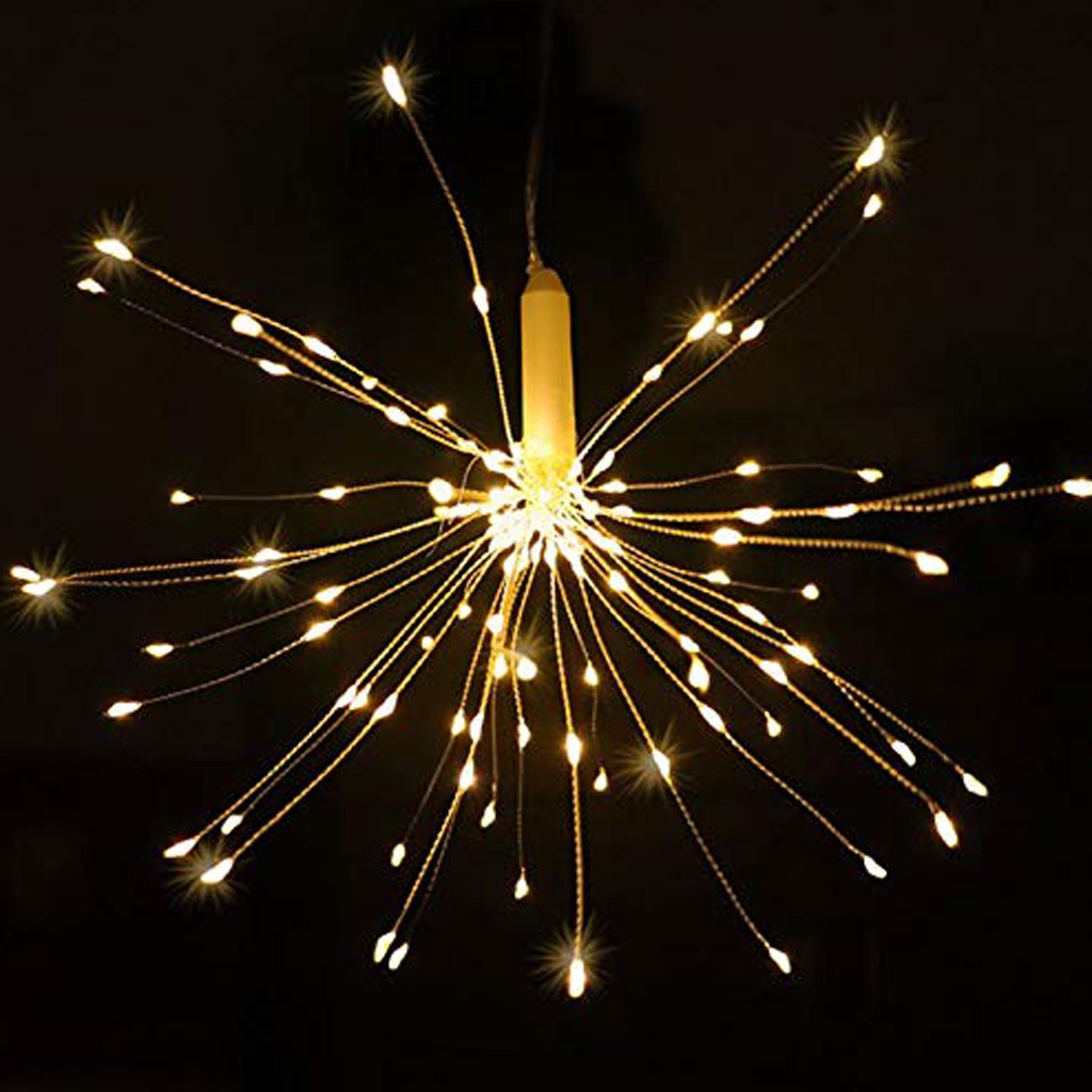 Wasserdichte Licht 180 LED Hängen Starburst Bouquet Form Lichter Ornament Batterie modell mit fernbedienung Dropshipping #20 image