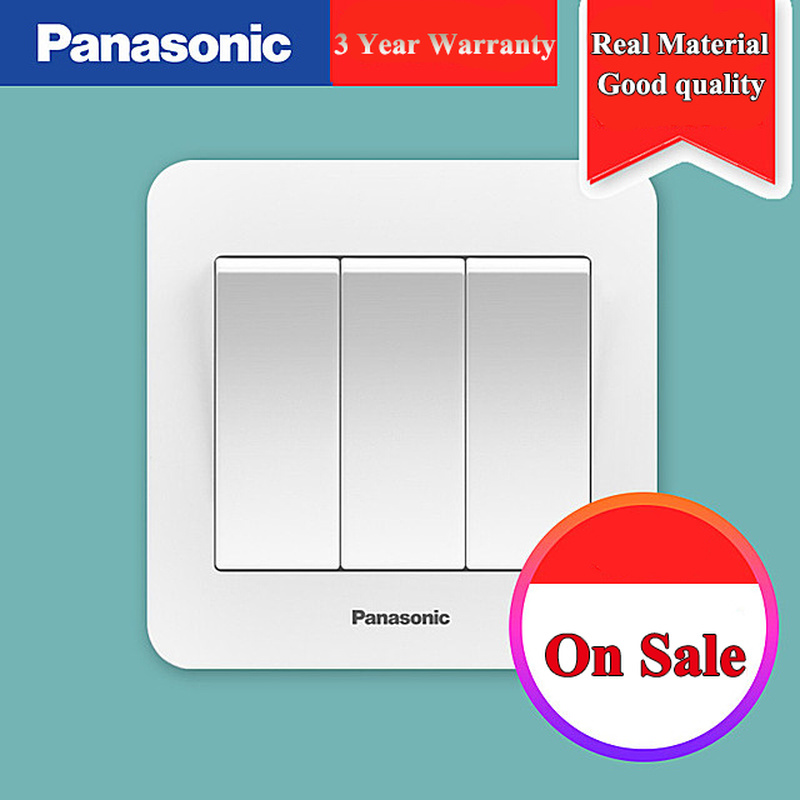 Panasonic EU Standard Switch Push Button Light 1 Gang 2 3 4 Wall
