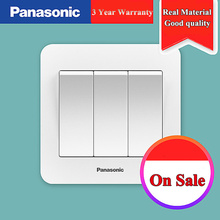 Panasonic EU Standard Switch Push Button Light 1 Gang 2 3 4 Wall