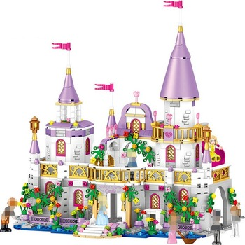 Compatible Lepining Princess Castle Girl Series Assembled Building Blocks Girl Villa Castle Building Blocks Model Kids Toys Gift new sluban building bricks 815pcs blocks princess cinderella sapphire castle compatible friends education diy kit gift toys girl