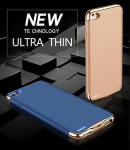 Image 2 - 3500/4000 2200mahのスリム超薄型電話のバッテリーケースiphone 6 6s 7 8電源銀行バックアップ充電器ケース6 6s 7 8プラス