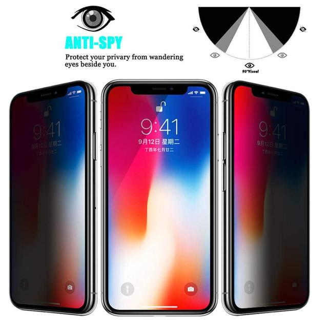 1-3Pcs Privacy Tempered Glass Screen Protector for IPhone 12 11 Pro 6s 7 8 Plus Anti-spy Glass for IPhone XS MAX X XR 4