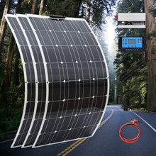 Photovoltaic set 300w solar panels kit system 300 w 12 volt and 110v 220v 1000w inverter for home roof Solar platel kit complete