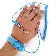 Self Defense Anti Static Bracelet Electrostatic ESD Discharge Reusable Wrist Strap Hand with Grounding Wire Welding Work Gloves(China)