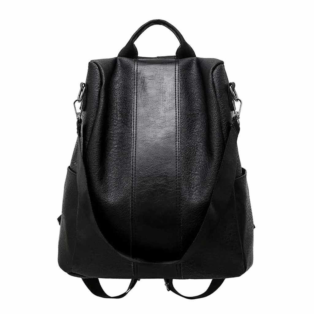 Backpacks Anti Theft Backpack Women New Fashion Casual PU Leather Casual Wild Soft Leather Dual-use Small Dropship #P