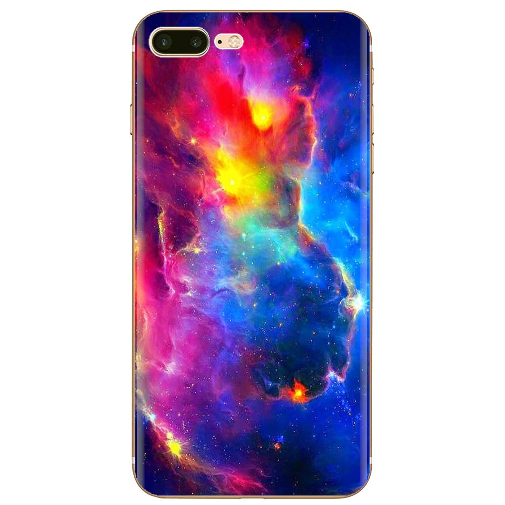 Nebula Over Mountain Abstract Space For Xiaomi Redmi 4A S2 Note 3 3S 4 4X 5 Plus 6 7 6A Pro Pocophone F1 Buy Silicone Phone Case(China)