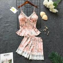 Pajamas Women Pajamas Female Pajama sets Sleepwear Womens Pajamas Night suit Soft Lounge Sets Plus size Lace Summer Wholesale