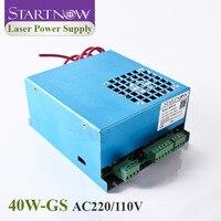 Startnow 40W-GS 40 Вт CO2 лазерный источник питания MYJG-40 110В/220В универсальный для лазерного генератора режущее маркировочное оборудование запасные ч...