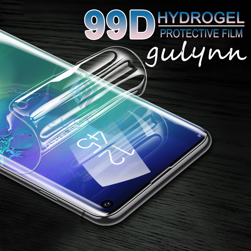 99D Full Curved Soft Hydrogel Film For Samsung Galaxy S9 S10 J4 Plus Screen Protector For A 10 20 30 40 50 60 70 M20 Not Glass in Phone Screen Protectors from Cellphones Telecommunications
