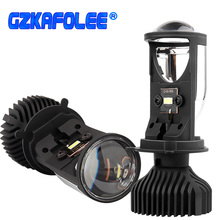 Canbus 90 w/par lâmpada h4 led mini lente do projetor kit les lâmpada 14000lm kit de conversão hi/lo feixe farol 12v/24v rhd lhd