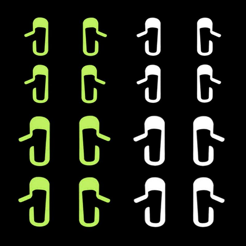 8 Pcs/Set Vehicle Car Door Open Exit Sticker Decal Fit For Tesla Model 3 Car Interior Decoration Sticker Accessories