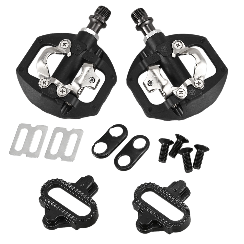 Bicycle Pedal MTB Bike Self-Locking SPD Pedal Clipless Pedal Platform Adapters for Shimano Spd Looking Keo System