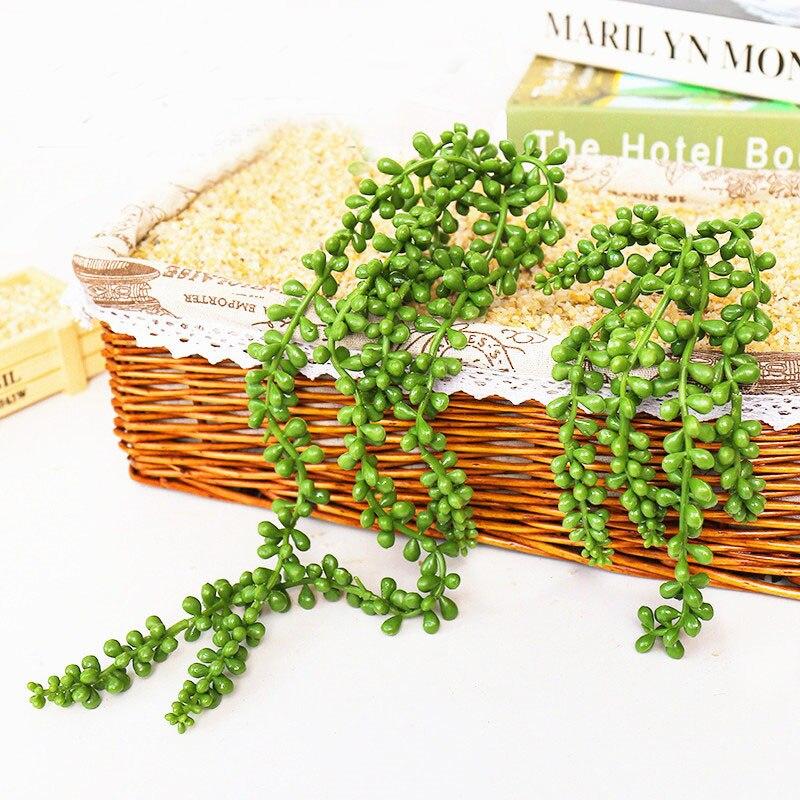 37 48 см Висячие Зеленые искусственные растения для дома цветок для украшения сада расположение поддельные растения Decktop большое сочное растение бонсай|Искусственные растения|   | АлиЭкспресс