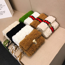 Sac tissé à la main mode bricolage en peluche tissé sac à bandoulière fait maison cadeau femmes sac sac de messager offre spéciale ins matériel paquet