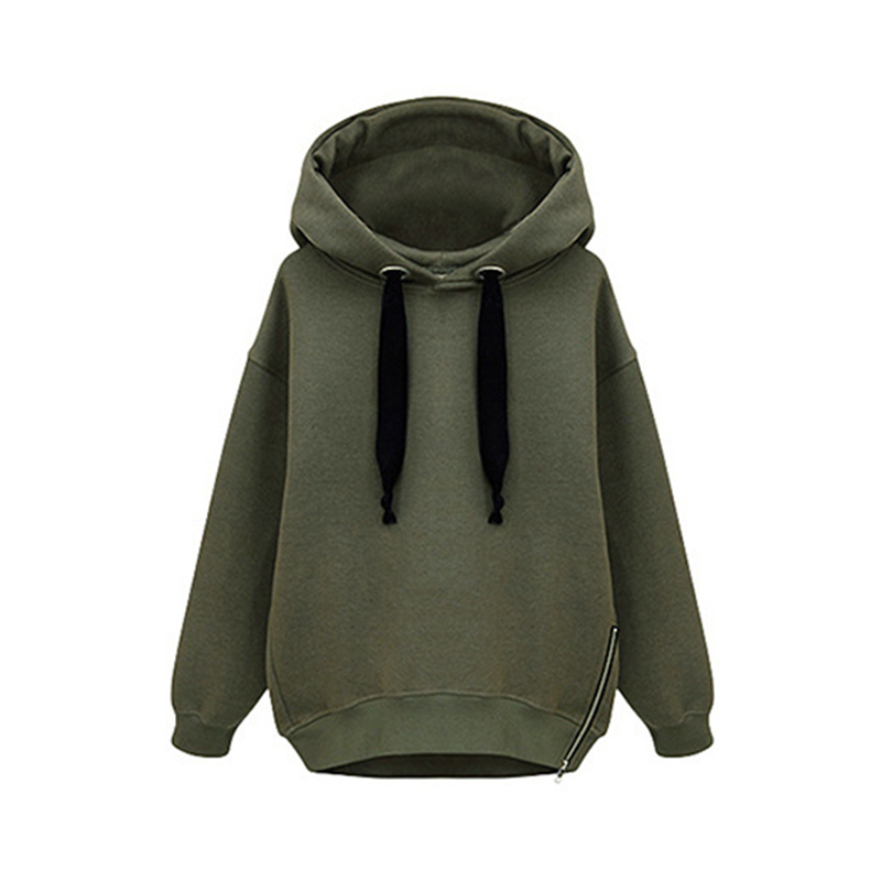 Autumn Lady Comfty Sweet Hooded Sweatshirts Long Sleeve Thick Plus Size Tracksuit  Hoodies Long Sleeve Solid Color Pullover