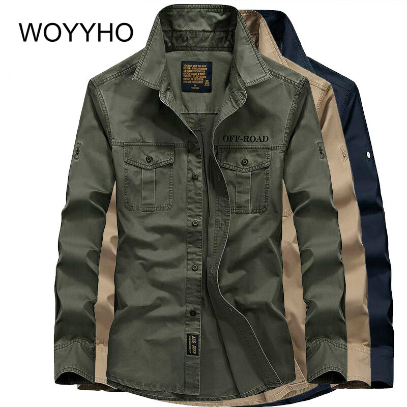 Spring Breathable Hiking Man Shirt Long Sleeve Cotton Military Shirt Quick Dry Windproof Plus Size Trekking Fish Outdoor Shirts