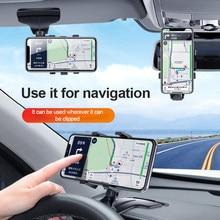 Suporte de carro atualização spida montagem-universal telefone clipe de 1200 ° rotação de graus para 3-7 Polegada smartphones montagens & titular universal