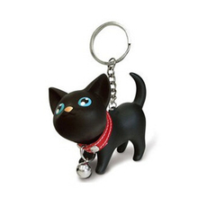Keychain Cute Pet-Keychains-Bag-Accessories Pendant Dog-Bell-Bag Animal-Figure Cats Funny
