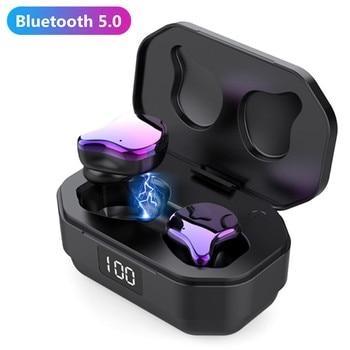 True Wireless G01 TWS Power Display Bluetooth 5.0 Fingerprint Touch Earphones HD Stereo Wireless Noise Cancelling Gaming Headset