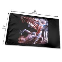 Canibal cadáver túmulo dos tamanhos mutilados s a 6xl dos homens nova impressão do sexo masculino crianças presente bandeira de rocha