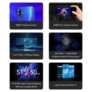 "Image 3 - UMIDIGI F2 Android 10 Global Version 6.53""FHD+6GB 128GB 48MP AI Quad Camera 32MP Selfie Helio P70 Cellphone 5150mAh Mobile Phone"