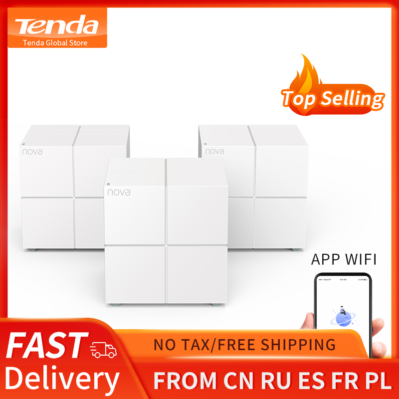 Tenda MW6 Whole Home Mesh Wireless WiFi System with 11AC 2.4G/5.0GHz WiFi Wireless Router and Repeater, APP Remote Manage 1