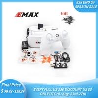 Emax Tinyhawk II RTF Dron de carreras con visión en primera persona de F4 5A 16000KV RunCam Nano2 25/100/200mW VTX 1S 2S con Goggle