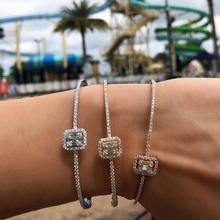 GODKI модный роскошный Штабелируемый браслет, манжеты для женщин, свадьба, полный кубический цирконий, Кристалл CZ браслет в дубайском стиле, ювелирные изделия вечерние 2019