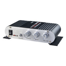 LP-808 Power Car Amplifier MP3 Radio Audio Stereo Bass Speaker Booster Player for Motorbike Home PC DVD CD 12-14.4V 2A Black