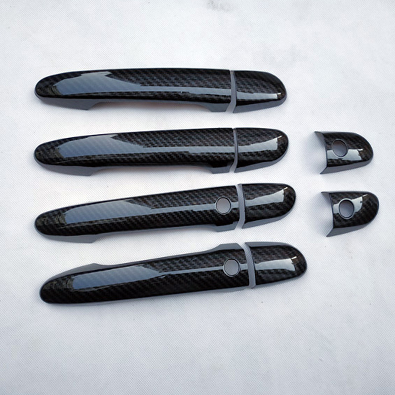 Chrome door handle cover <font><b>accessories</b></font> carbon fiber color for <font><b>mazda</b></font> cx-5 cx 5 <font><b>cx5</b></font> kf 2019 2018 <font><b>2017</b></font> 2016 2015 2014 2013 2012 image