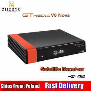 Image 1 - HD DVB S2 GTmedia V8 Nova Satellite TV Receiver Built in WIFI power Same as V9 Super Spain poland Satellite TV Receiver no APP