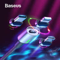 Baseus Magnetic Cable Micro USB Type Cable for Samsung s9 iPhone Xr Charge USB Cable Magnet Adapter Mobile Phone Cable USB Cord