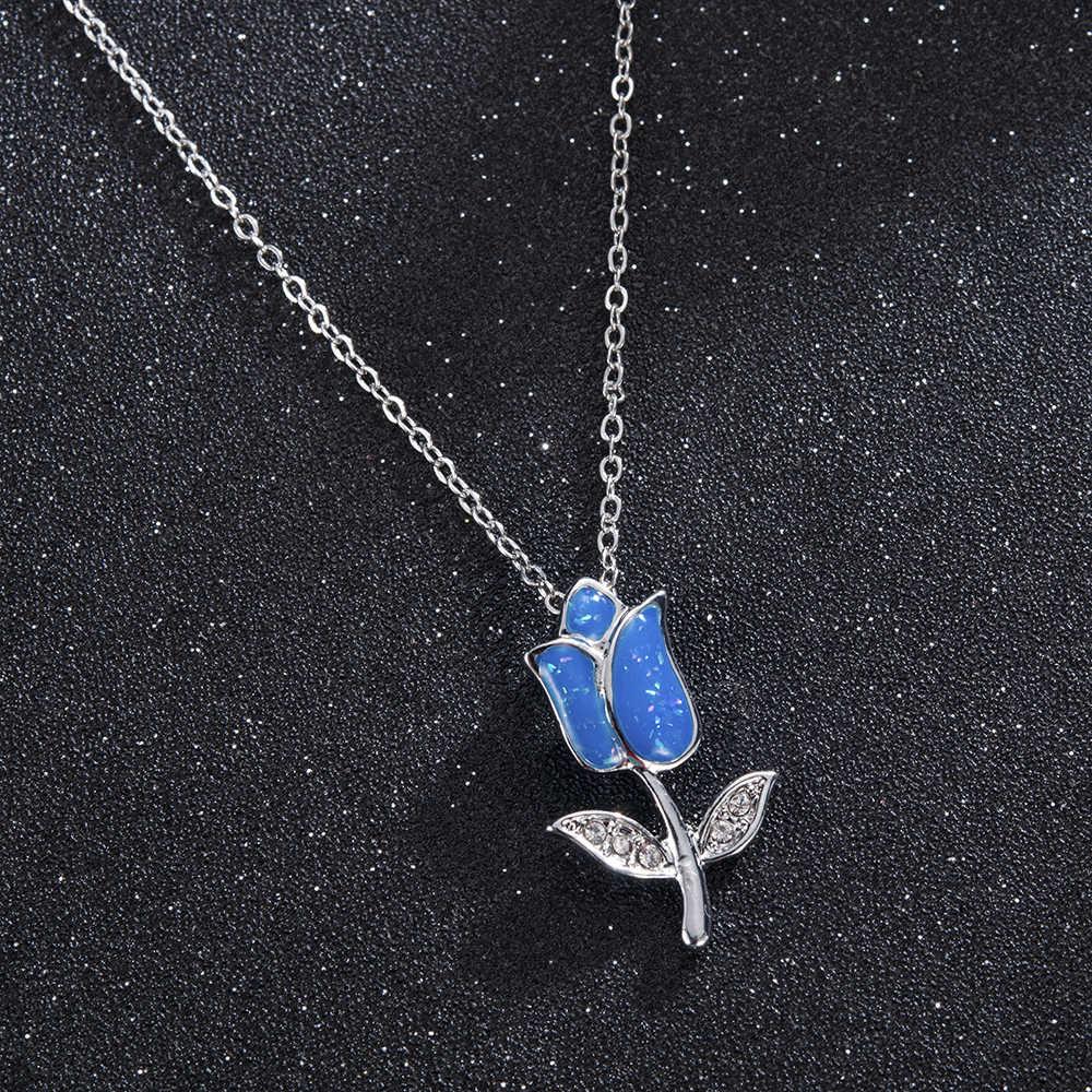 Collar con dije en forma de gota de plata Cristal de boda clásico para mujer Collar de diamantes de imitación de moda