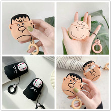 3D Cartoon Dog Puppy Silicone case For AirPods Pocket Mickey Minnie Earphone Apple Airpods 2 Ring Strap