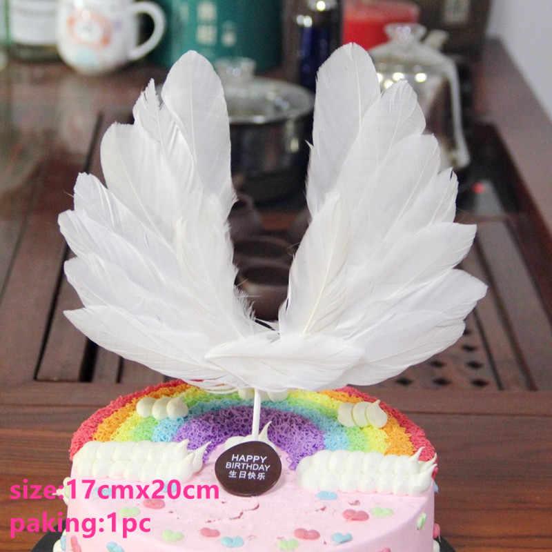 Фламинго Крылья Ангела торт Топпер флаг с единорогом для мальчиков и девочек пирожное для дня рождения Свадебный Торт Топперы украшения вечерние поставки