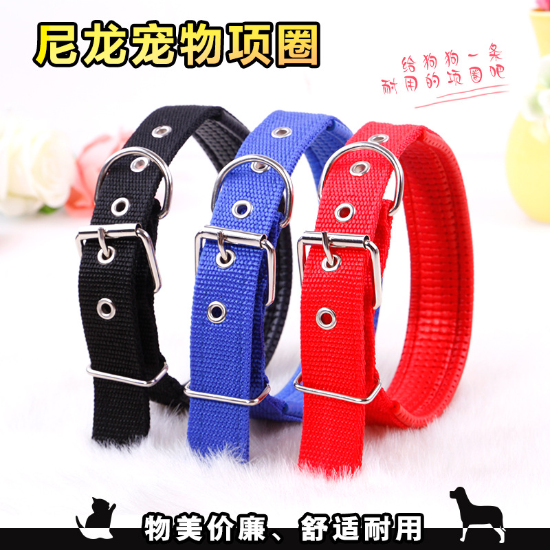 Ten Thousand Europe And America Color Teddy Golden Retriever Dog Chain Neck Ring Set Of Brand Foam Nylon Pet Collar