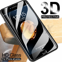 3D Protective Glass On The For iPhone 7 6S 6 8 Plus X 5 5S SE iPhone 11 Pro XS Max XR Tempered Screen Protector Glass Film Case(China)