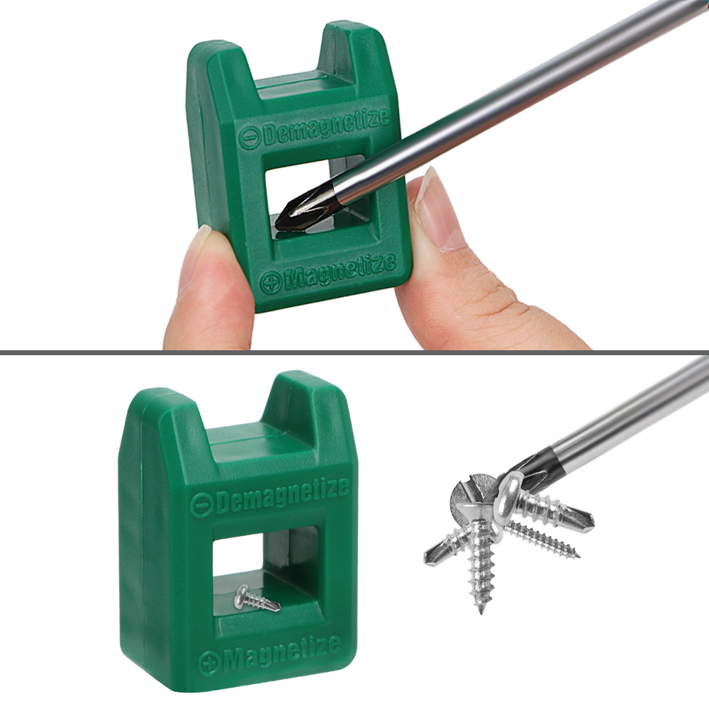 Screwdriver-Tool Magnetizer Degausser Demagnetization-Filling Powerful Mini 2-In-1 Porcelain